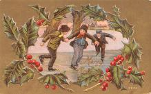 hol051107 - Christmas Postcard Old Vintage Antique Post Card