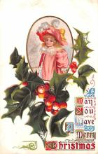 hol051109 - Christmas Postcard Old Vintage Antique Post Card