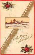 hol051117 - Christmas Postcard Old Vintage Antique Post Card