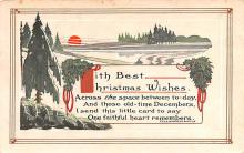 hol051119 - Christmas Postcard Old Vintage Antique Post Card
