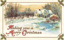 hol051123 - Christmas Postcard Old Vintage Antique Post Card