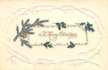hol051131 - Christmas Postcard Old Vintage Antique Post Card