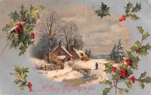 hol051135 - Christmas Postcard Old Vintage Antique Post Card