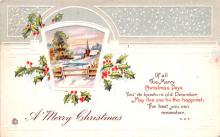 hol051139 - Christmas Postcard Old Vintage Antique Post Card