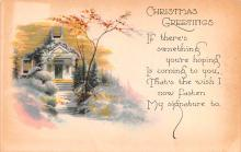 hol051143 - Christmas Postcard Old Vintage Antique Post Card
