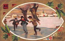 hol051147 - Christmas Postcard Old Vintage Antique Post Card