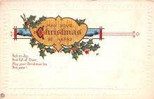hol051149 - Christmas Postcard Old Vintage Antique Post Card