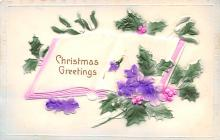 hol051155 - Christmas Postcard Old Vintage Antique Post Card