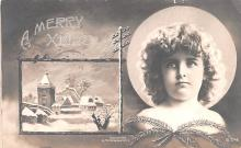 hol051157 - Christmas Postcard Old Vintage Antique Post Card