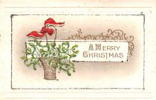 hol051159 - Christmas Postcard Old Vintage Antique Post Card