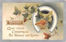 hol051161 - Christmas Postcard Old Vintage Antique Post Card