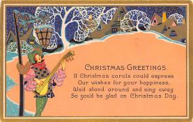 hol051165 - Christmas Postcard Old Vintage Antique Post Card