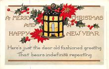 hol051167 - Christmas Postcard Old Vintage Antique Post Card