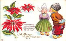 hol051169 - Christmas Postcard Old Vintage Antique Post Card