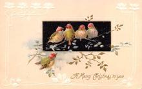 hol051171 - Christmas Postcard Old Vintage Antique Post Card