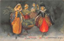 hol051175 - Christmas Postcard Old Vintage Antique Post Card