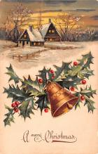 hol051185 - Christmas Postcard Old Vintage Antique Post Card