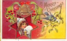 hol051193 - Christmas Postcard Old Vintage Antique Post Card