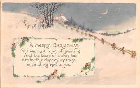 hol051197 - Christmas Postcard Old Vintage Antique Post Card