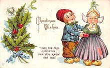 hol051199 - Christmas Postcard Old Vintage Antique Post Card