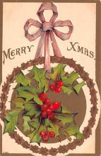 hol051203 - Christmas Postcard Old Vintage Antique Post Card