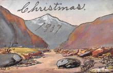 hol051205 - Christmas Postcard Old Vintage Antique Post Card