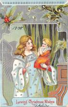 hol051207 - Christmas Postcard Old Vintage Antique Post Card