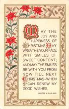 hol051211 - Christmas Postcard Old Vintage Antique Post Card