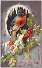 hol051217 - Christmas Postcard Old Vintage Antique Post Card