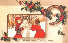 hol051223 - Christmas Postcard Old Vintage Antique Post Card