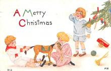 hol051225 - Christmas Postcard Old Vintage Antique Post Card