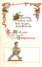 hol051229 - Christmas Postcard Old Vintage Antique Post Card