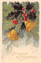 hol051233 - Christmas Postcard Old Vintage Antique Post Card