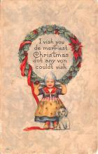 hol051237 - Christmas Postcard Old Vintage Antique Post Card