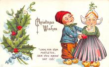 hol051239 - Christmas Postcard Old Vintage Antique Post Card
