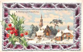 hol051251 - Christmas Postcard Old Vintage Antique Post Card