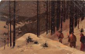 hol051253 - Christmas Postcard Old Vintage Antique Post Card
