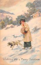 hol051255 - Christmas Postcard Old Vintage Antique Post Card