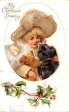 hol051257 - Christmas Postcard Old Vintage Antique Post Card