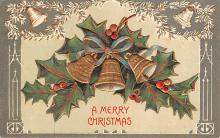 hol051261 - Christmas Postcard Old Vintage Antique Post Card