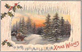hol051263 - Christmas Postcard Old Vintage Antique Post Card