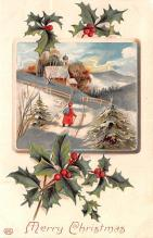hol051265 - Christmas Postcard Old Vintage Antique Post Card
