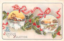 hol051267 - Christmas Postcard Old Vintage Antique Post Card