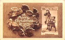 hol051269 - Christmas Postcard Old Vintage Antique Post Card