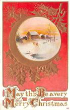 hol051271 - Christmas Postcard Old Vintage Antique Post Card