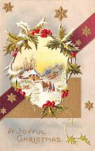 hol051275 - Christmas Postcard Old Vintage Antique Post Card