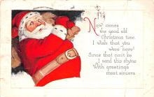 hol051281 - Christmas Postcard Old Vintage Antique Post Card