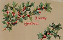 hol051283 - Christmas Postcard Old Vintage Antique Post Card
