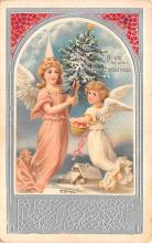 hol051287 - Christmas Postcard Old Vintage Antique Post Card