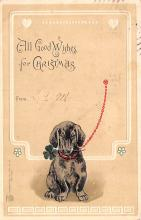 hol051289 - Christmas Postcard Old Vintage Antique Post Card